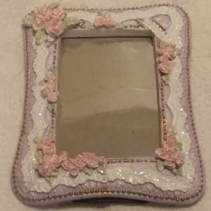 Other - Feminine Purple Photo Frame With Pink Roses